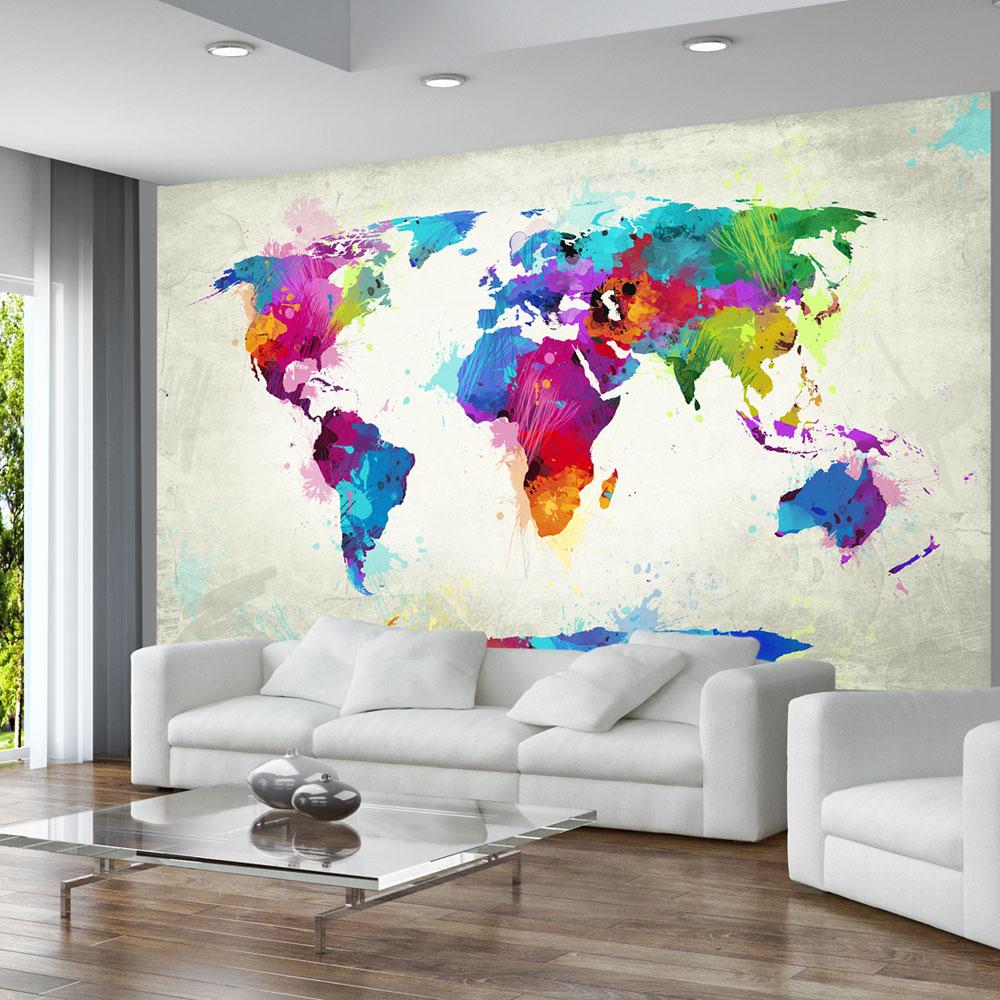 Fototapeet the map of happiness for Carta parati mondo